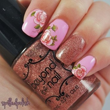 Flower Water Decals nail art by Maddy S