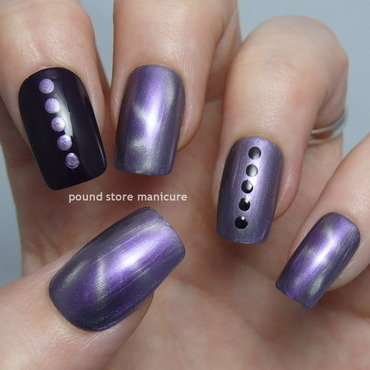 Magnetism nail art by Pound Store Manicure