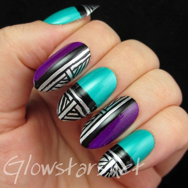 Midnight blows in through the window nail art by Vic 'Glowstars' Pires