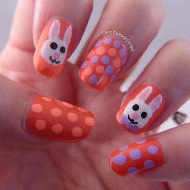 Bunnies nail art by Denise