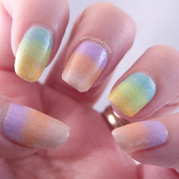 Pastel Gradient nail art by Denise
