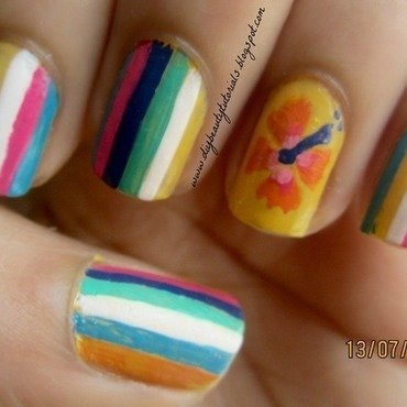 Spring Colors nail art by Krishna Patel