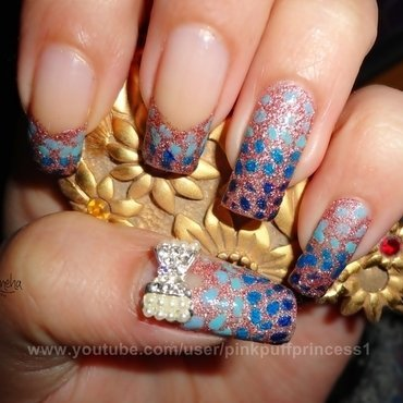 Blue Gradient Japanese Nail Art nail art by Leneha Junsu