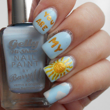 You are my sunshine nail art by Lisa Yabsley