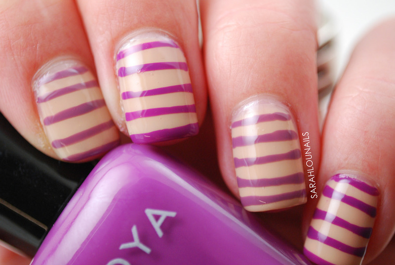 Zoya Striped Nails nail art by Sarah S