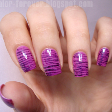 striped fan brush nail art nail art by ania