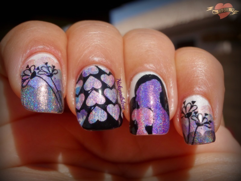 Mothers love nail art by Nicky