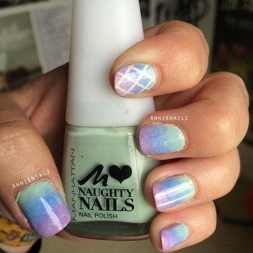 Pastel gradient nail art by Annienailz