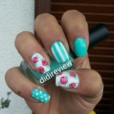 primavera nell'aria  nail art by Didi didireview