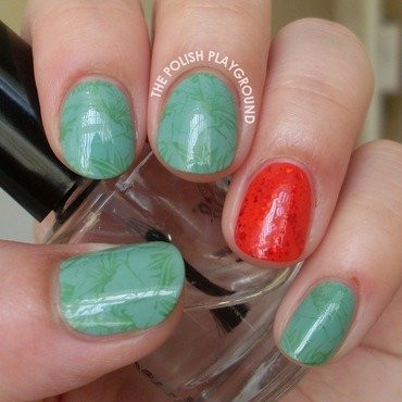 Working in the gardens stamping nail art thumb370f