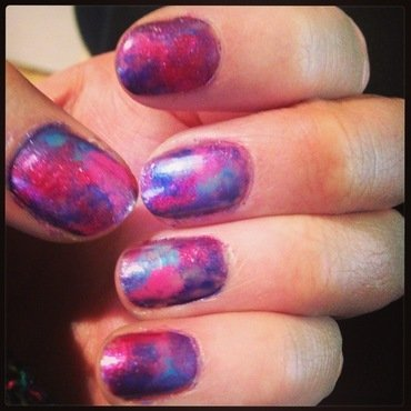 Out of space nails nail art by Kelly Greenwood
