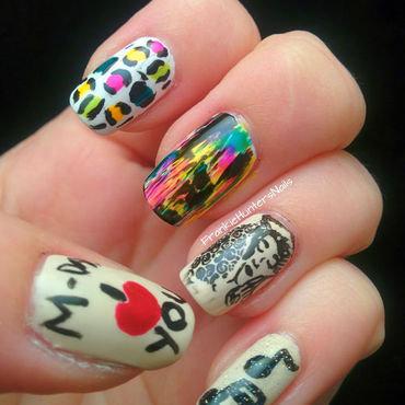 Mother's Day skittlette dedicated to my mom nail art by Franziska FrankieHuntersNails