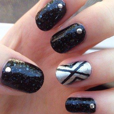Punk Rock nail art by Anya Qiu