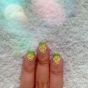 Pineapple nail art by Judy Ann Chio