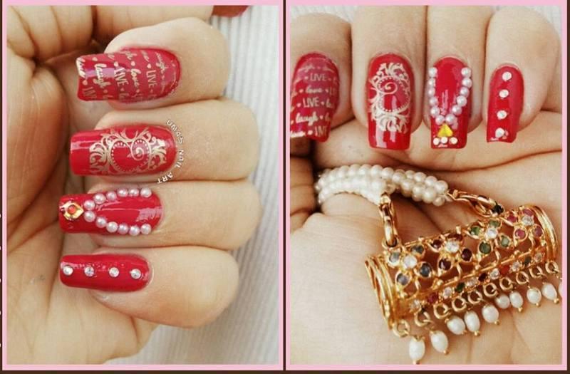 Mother's Day Nail Art nail art by Uma mathur