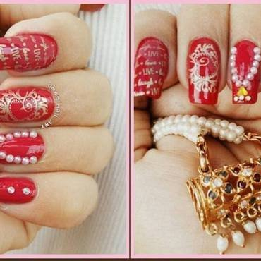 Mother's Day Nail Art nail art by Uma mathur