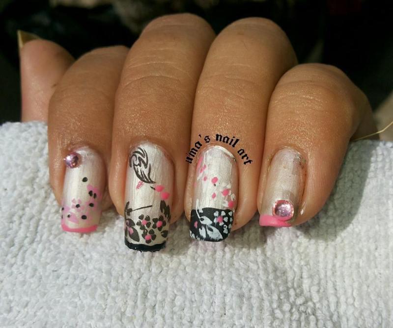 Royal Pearl nail art by Uma mathur