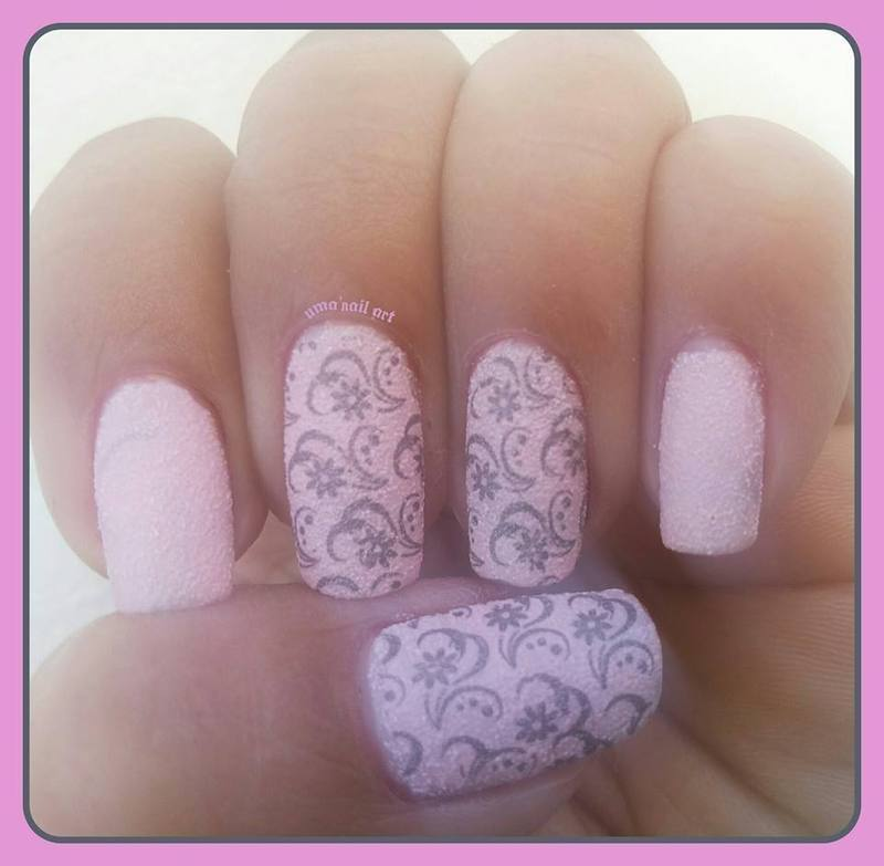 Baby Pink.. nail art by Uma mathur