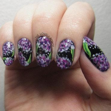 Hydrangea Nail Art nail art by Em Moore