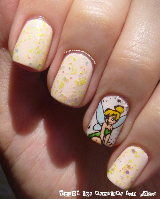 Tinker Bell Manicure Nail Art By Maria Nailpolis Museum Of Nail Art