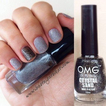OMG Crystal Sand and Lancome Etincelle D'Argent Swatch by Maria Franco