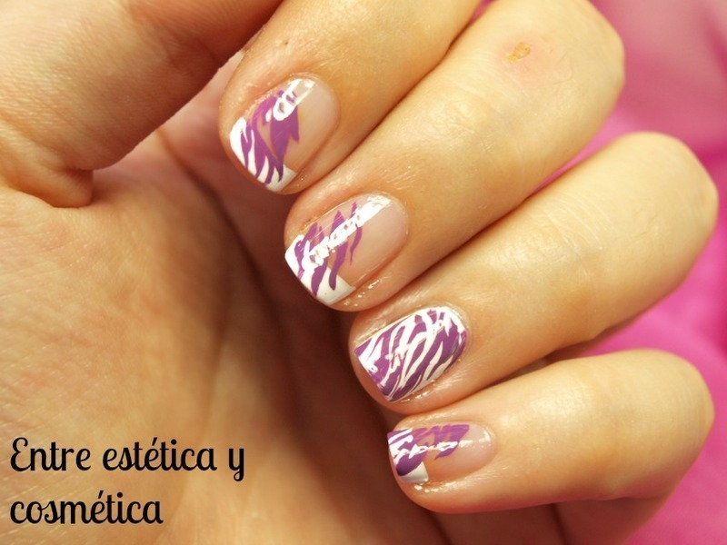 Purple animal print nail art by MartaRuso