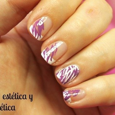 Purple animal print nail art by MartaRuso