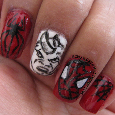 The Amazing Spider man 2 nail art by HGNailDesign
