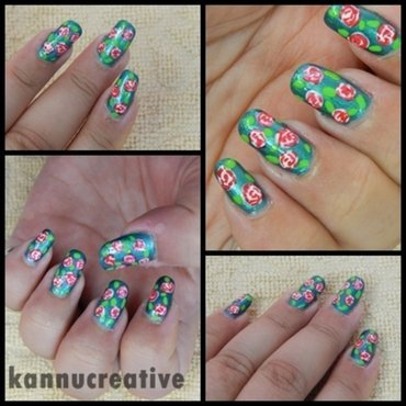 Mother's love = pretty roses nail art by HerCreativePalace (kanika)