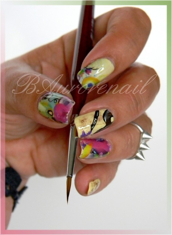 nail art tableau nail art by BAurorenail