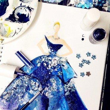 Met Gala series . Karolina Kurkova  nail art by Chan  Clayrene