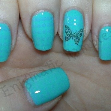 Pastel Butterfly nail art by Enigmatic Rambles