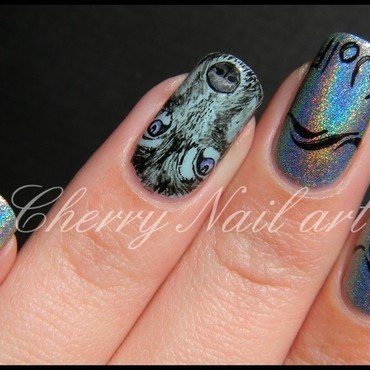 Nail art loup nail art by Cherry Nail art