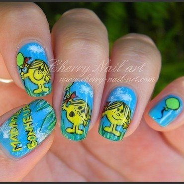 Nail art madame bonheur nail art by Cherry Nail art