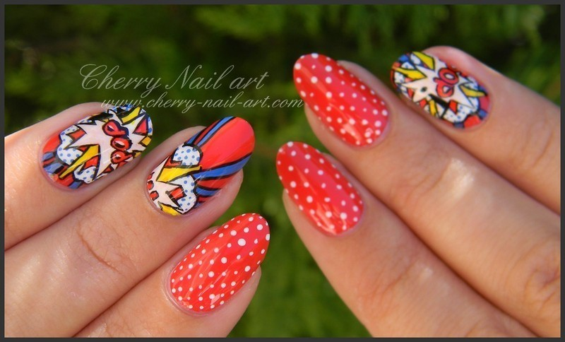 Nail Art Pop Art Nail Art By Cherry Nail Art Nailpolis Museum Of