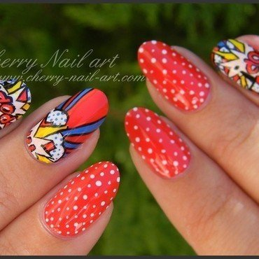 Nail art pop art nail art by Cherry Nail art