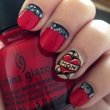 Love Mom nail art by Niki My Oh My Nails