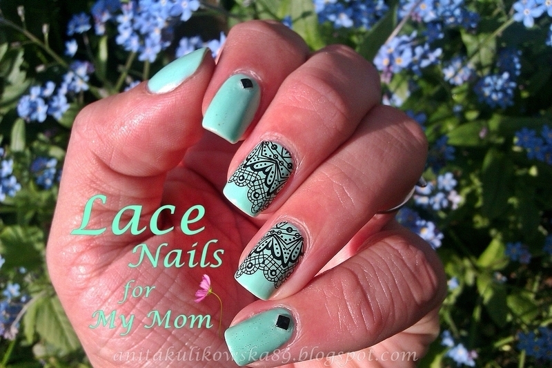 Lace Nails especially for my MOM :D nail art by Anita