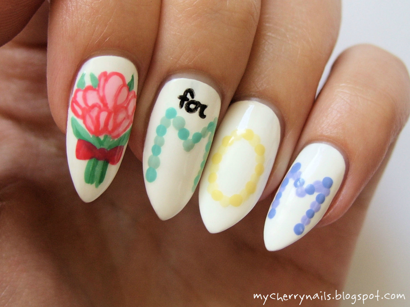 For Mom nail art by Pauline