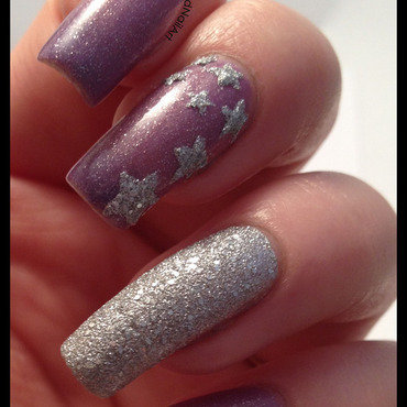 Textured Stars nail art by Carrie