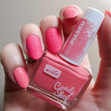 Wibo Candy Shop nr 1 (peachy one) and Wibo Candy Shop nr 2 (pink one) Swatch by Yenotek