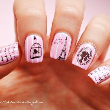 A walk through Paris nail art by Olaa