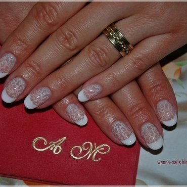 Bridal nail art by Oana Chiciu