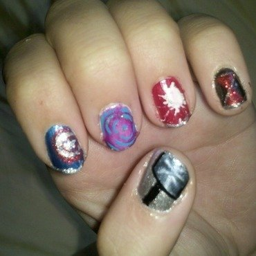 Avengers! nail art by Brittany Wanner