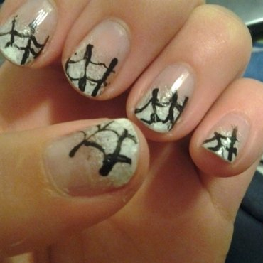 Halloween Spiders nail art by Brittany Wanner