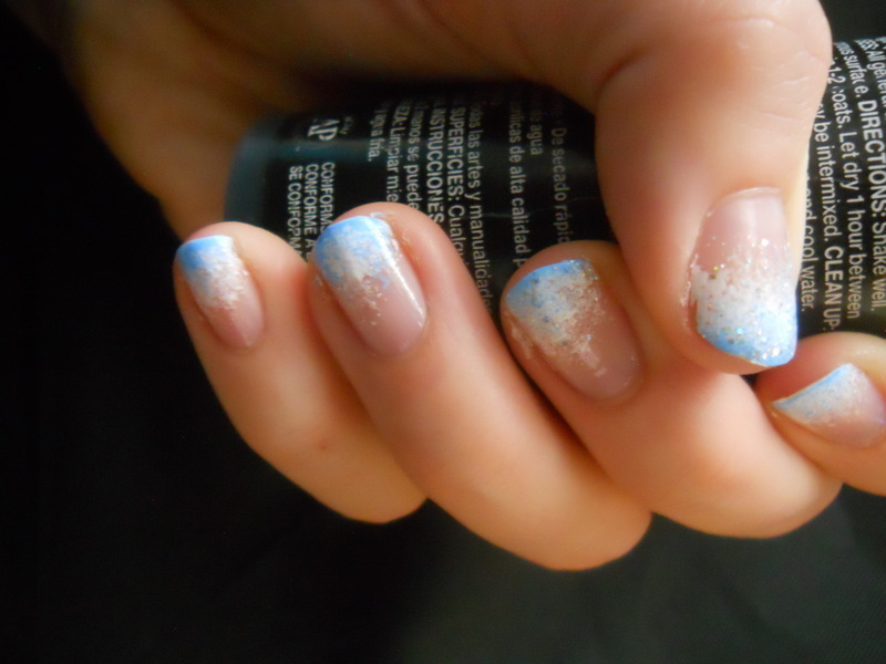 Winter Frost nail art by Brittany Wanner
