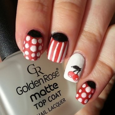 Pin-up Nail Art nail art by KonadAddict