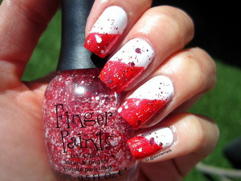 Stawberry & Vanilla Swirl nail art by Donner