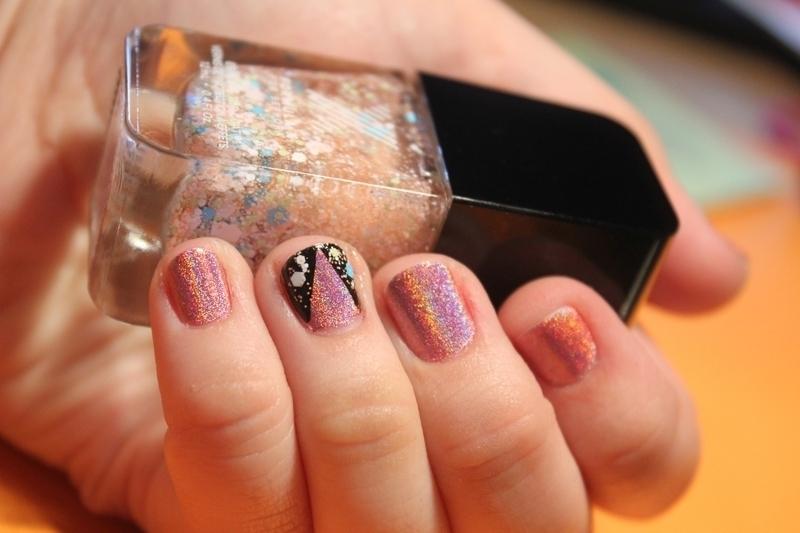 Holo Party nail art by moon doggo