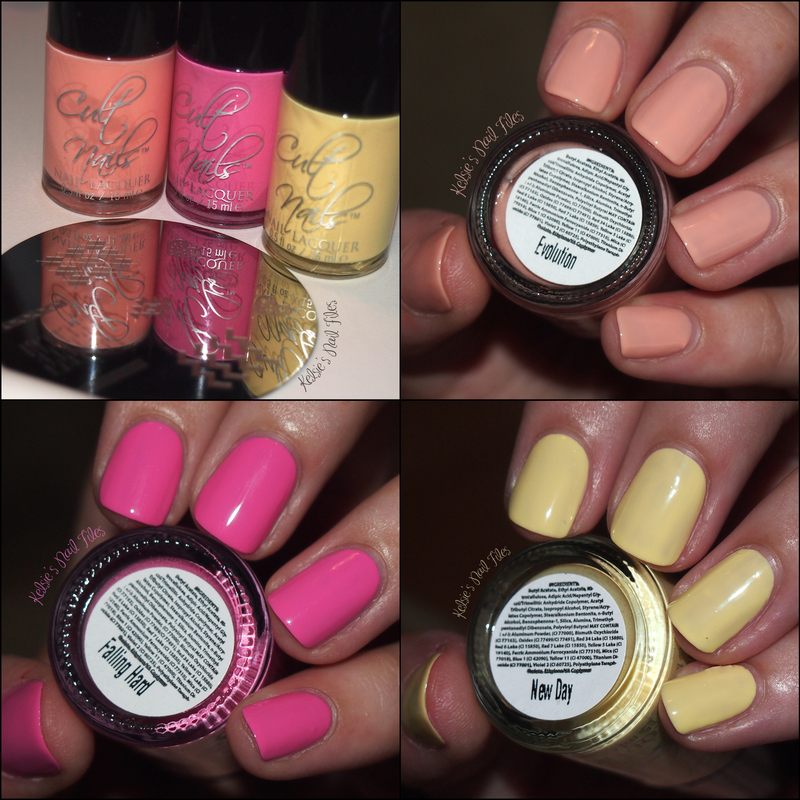 Cult Nails Falling Hard, Cult Nails New Day, and Cult Nails Evolution Swatch by Kelsie